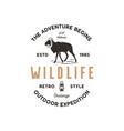 adventure logo design camping adventures badge vector image