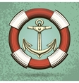 Anchor and Lifebuoy vector image
