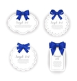Beautiful cards with gift bows with ribbon vector image