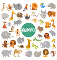 cartoon animal characters big set vector image