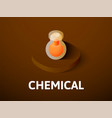 chemical isometric icon isolated on color vector image