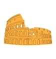 Colosseum isolated on white vector image