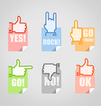 Different gestures icons set vector image