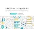 elegant thin line flat modern Network vector image