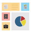 flat exchequer set of document calculate vector image