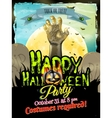 Halloween poster background EPS 10 vector image