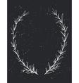 Hand drawn decorative laurel wreath Vintage design vector image