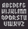Sans serif geometric font in gothic style vector image