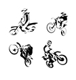 Off road sport Motorcycle vector image
