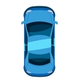 Blue car top view icon isometric 3d style vector image