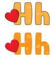 letter H heart vector image