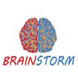 Brainstorming creative idea vector image