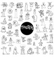 monster characters big set vector image vector image