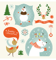 Set of Christmas and New Year s graphic elements vector image