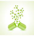 3d eco chemical atomic structure molecule model vector image