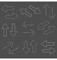 Dash line arrows hand drawn doodle arrows set vector image