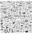 food cookery doodles vector image vector image