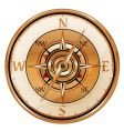 antique compass vector image