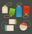 Blank shopping tags with rope template vector image