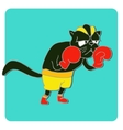 Cats athlete in sports wear vector image