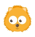 cute lion character isolated icon design vector image