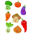 Cute vegetable cartoon vector image