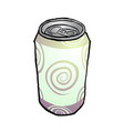 drink metal can vector image
