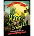 Happy Halloween Typographical Background EPS 10 vector image