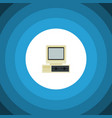 isolated pc flat icon computer element can vector image