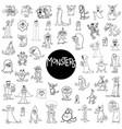monster characters big set vector image