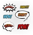 pop art comic design vector image