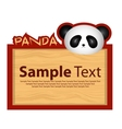 Wood board with panda for your design vector image