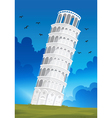 Leaning Tower of Pisa in Italy vector image