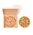 Pizza Box Composition vector image