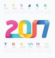 2017 Calendar colorful ribbon concept vector image vector image