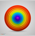 spherical rainbow vector image