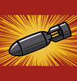 bomb in comic book style design element for vector image vector image