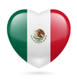 Heart icon of Mexico vector image