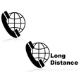 Long distance call vector image