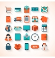 On-line shopping infographic background vector image
