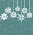 Christmas background with variation snowflakes vector image