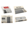Folded newspaper icons vector image