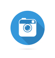Hipster photo or camera flat icon with long shadow vector image