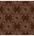 Seamless Mandala Pattern over dark brown vector image