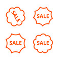 a simple linear image of four stickers with vector image