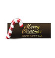 christmas banner with xmas candy cane vector image
