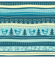 Christmas seamless background with birds vector image