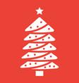 christmas tree glyph icon new year and christmas vector image