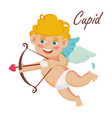 cupid cupids bow happy valentine s day vector image