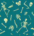 human skeleton seamless pattern with vector image
